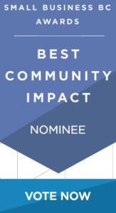 Small Business BC Award vote button