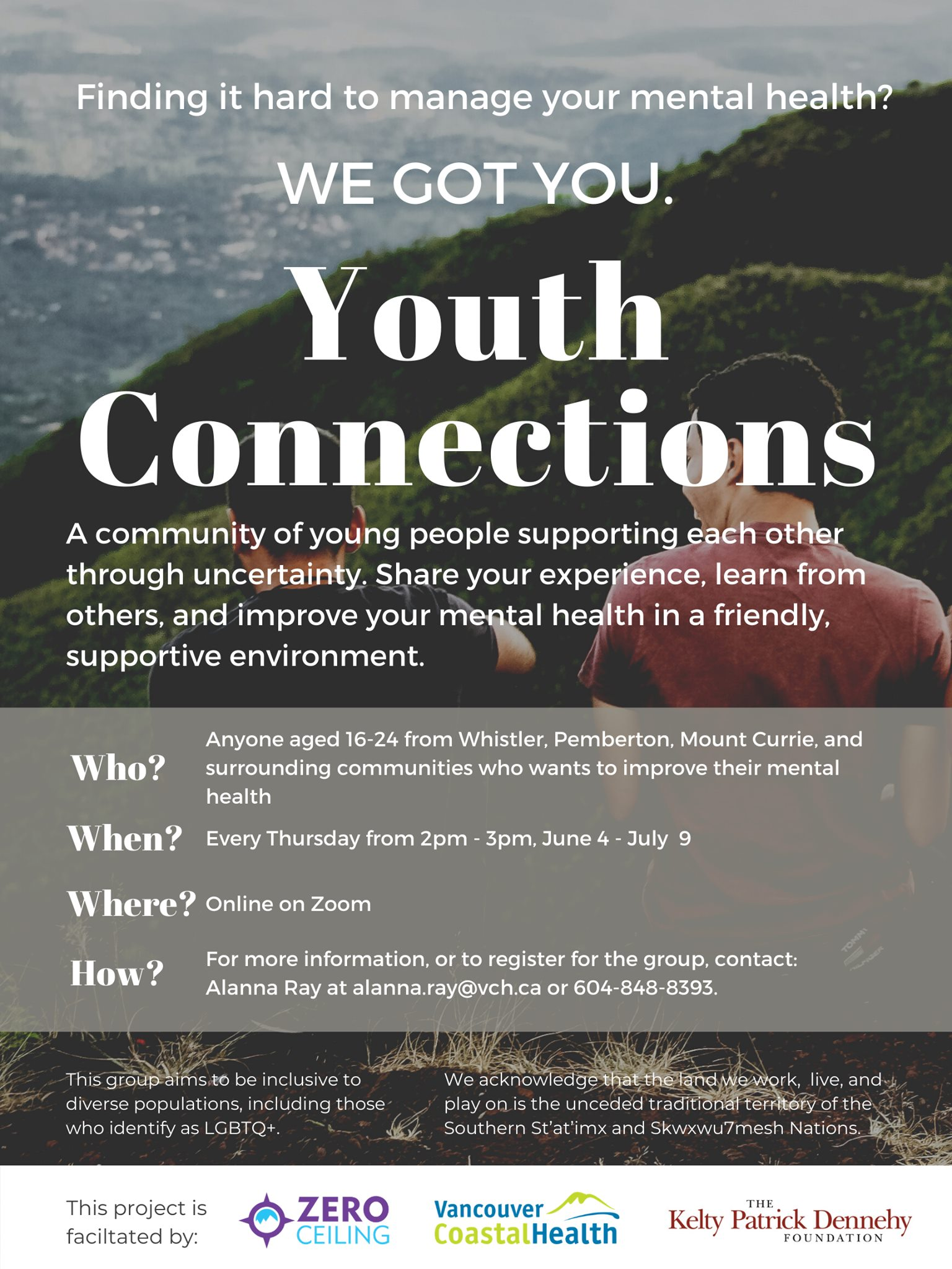 Youth Connections online mental health peer support group starts June 4!